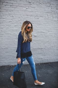 Easy Go-To Outfit: The Pleated Hemline Sweater