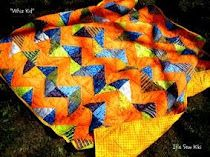 Whiz Kid Quilt by Kiera Vanella-Make this lap quilt with bright colors using half square triangle units set in a zig zag pattern. Finished quilt is x Easy Quilt Patterns, Kids Patterns, Quilting Projects, Quilting Designs, Quilting Ideas, Free Pattern Download, Free Downloads, Charm Square Quilt, Orange Quilt