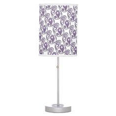 Purple Paisley Lamp ............This design features a purple paisley pattern. Great décor for any room with that uses that color. You can find more colors with this design in my store.