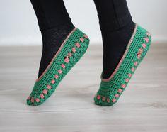 Women socks Handmade Slippers Turkish Knitted by SENNURSASA, $15.00
