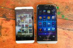 BlackBerry A10 Aristo se desnuda por completo.... COMO ME PONE!!! Una colección de fotos y videos de la nueva BBZ00 o A10 o Aristo... En esta imagen se ve el tamaño comparativo con la BB Z10