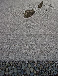 Zen Garden - - At the Portland Japanese Garden.