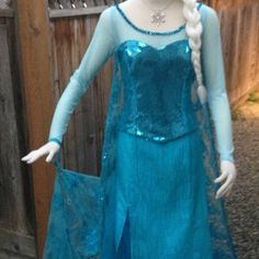 Elsa Frozen Sparkly Snow Queen Version B Adult Costume Custom Made