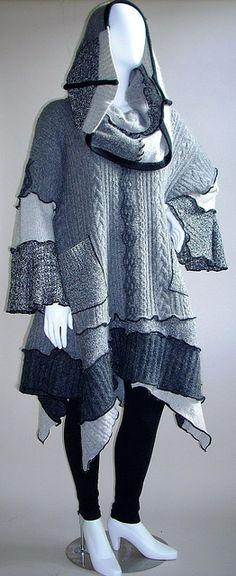 Cowl Collar Poncho/Tunic by brendaabdullah, via Flickr