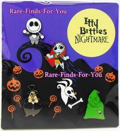NEED THIS!!!!!  Disney Parks NBC Nightmare Itty Bitties 5 Pin Set Jack Sally Zero Oogie & Mayor