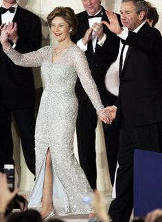 (one of) Laura Bush Inaugural Gown