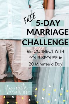 I love this 5-day marriage challenge! There's all kinds of marriage advice out there, but this is a fun, simple and positive way to reconnect with your spouse. If you want to spice up your marriage, this is a great way to do it! #marrriageadvice #marriagechallenge