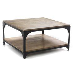 Table basse carrée au style industriel - New ately - Les tables basses-Tables basses et bouts de canapé-Salon et salle à manger-Par pièce - Décoration intérieur - Alinea