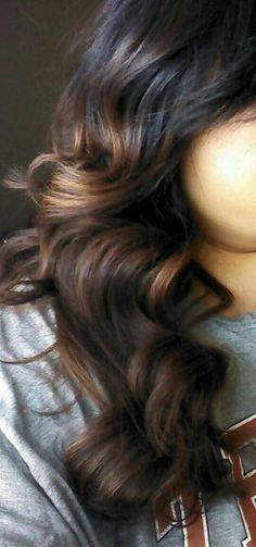 My natural black hair to brown ombre new color 4/2013 love it with gold and caramel lights