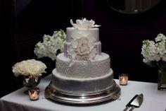 grey inspired wedding cake