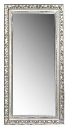 Spiegel im geschmackvollen Design: Schmücken Sie Ihr Zuhause mit diesem hochwertigen Wandspiegel von LANDSCAPE. Der kunstvoll verzierte Rahmen in Silber ist aus massivem Echtholz gefertigt und macht den ca. 100 x 200 cm (B x H) großen Spiegel zu einem absoluten Prachtstück. Dieses edle Accessoire hat Stil!