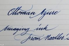 Noodler's Ottoman Azure - The Clumsy Penman's InKfusion Site