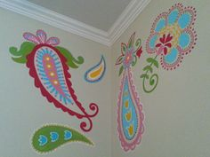 Baby room gets hand painted paisleys