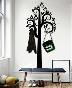 Every hallway should have one..! hello@kozihaus.co.uk Blog Images, Wall Sticker, Stickers, Tree Wall, Color, Furniture, Home Decor, Decoration Home, Room Decor