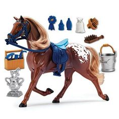 Sunny Days Entertainment Blue Ribbon Champions Deluxe Horse Appaloosa Toy -- More info could be found at the image url. Morgan Horse, Happy Trails, Barbie Horse, Barbie Dolls, Horse Toys For Girls, Cosas American Girl, Play Horse, Pony Games, Appaloosa Horses