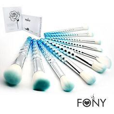 FONY Squama Makeup Brushes 10 Pcs Professional Makeup Brush Set, Premium Silky Soft Synthetic Bristles with Squama Handles Cosmetics Brush Kit (10, Fresh) *** See this great product. (This is an affiliate link and I receive a commission for the sales)