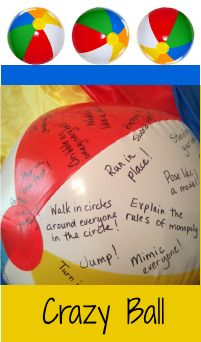 crazy ball beachball game for kids, tweens and teens