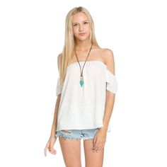 🔹LAST ONE🔹Flutter On Off-the-Shoulder Top Be one with the butterflies with this Flutter On Off-The-Shoulder top. An off-the-shoulder neckline, with short sleeves, is kept in place by an elastic band.   96% Polyester 4% Spandex likeNarly Tops