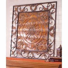 Wall accent in ornamental iron. Iron Wall Art, Iron Art, Metal Wall Decor, Hanging Wall Art, Wal Art, Tuscan House, Rustic Elegance, Metal Walls, Sculpture
