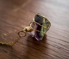 Hey, I found this really awesome Etsy listing at https://www.etsy.com/listing/195372852/fluorite-octahedron-pendant-with-14kt