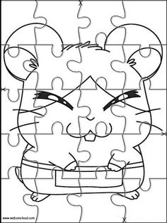 Printable jigsaw puzzles to cut out for kids Hamtaro 15 Coloring Pages