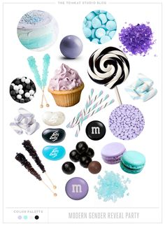 Lavender, Aqua and Black - Color inspiration (from The Tomkat Studio)