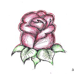 Rose drawing - scanned!
