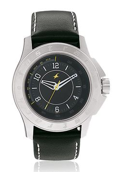 This mid-sized, chunky watch with a deep set dial and a steeply inclined minute ring is most suited for guys who love to wear chunky watches but have smaller wrists! The padded leather straps with contrast stitch add to the tough look of the watch. The hints of colour added onto the dial gives this watch a young and sporty look.  His & Hers from Fastrack  http://www.fastrack.in/product/3075sl02/?filter=yes=hisandhers=25#