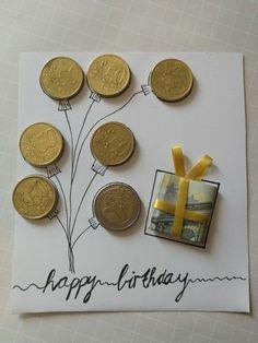 30 nápadov, ako darovať peniaze a nepoužiť pri tom obálku - sikovnik.sk Diy Birthday, Birthday Cards, Birthday Gifts, Birthday Ideas For Mom, Don D'argent, Wrapping Ideas, Gift Wrapping, Farewell Gifts, Diy Gifts For Kids