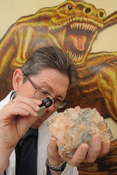 Keeper of Geology, Graham Worton, enjoying himself. Museum Art Gallery, Glass Museum, Geology, Graham, History, Historia