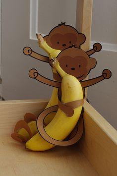 Banana Monkeys! Healthy and simple birthday treat.