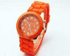 Silikonklocka Geneva - Jelly (orange) #geneva #platinum #jelly #silikon #bling #leopard #modeklockor #modeur #smyckesur #fashion #damklockor #damklocka #klocka #klockor #herrklocka #herrklockor #runns #watch #watches