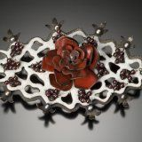"Kathryn Osgood Enamel - ""Koweb Lace Rose"".  I could eat her art!"