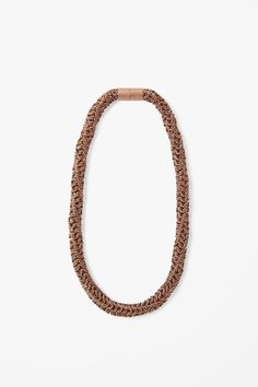 Bronze tube necklace