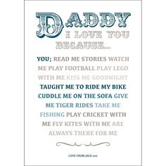 love you daddy images - Google Search