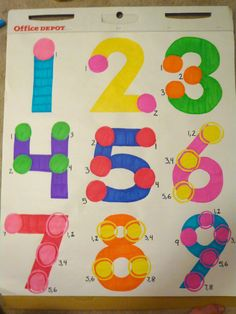 Touch Math poster to make