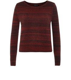 """Complement this space dye ribbed jumper with a leather-look mini skirt and block heel boots.- Space dye design- Ribbed texture- Simple long sleeves- Rounded neckline- Casual fit- Model is 5'8""""/176cm and wears UK 10/EU 38/US 6"""
