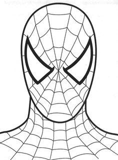 coloriage Tête de Spiderman