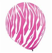 Pink Zebra Balloons to Buy (Use with solid black)