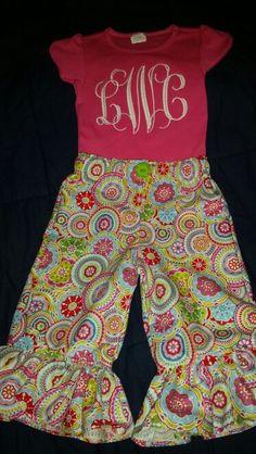 Monogrammed shirt and pants