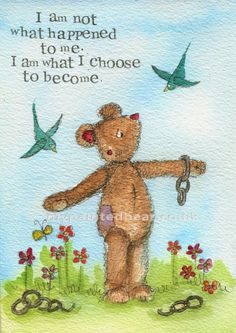 My Painted Bear online Shop offers unique customised drawings at affordable prices. Order a special commission or a one-off, original drawing in pen and ink and watercolour. Purchase prints, notebooks and greetings cards. I Am Strong, Choose Me, Brave, Thats Not My, Encouragement, Greeting Cards, Teddy Bear, Inspirational Quotes, Shit Happens