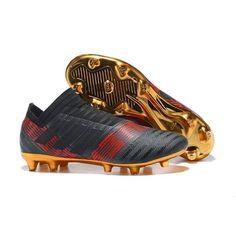 sports shoes e1fab fb9f2 Adidas Nemeziz 17 360Agility FG Botas de futbol Negro rojo Golden