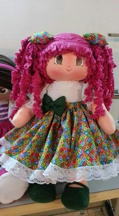 Details about Lovely handmade dress for My Child doll Sock Dolls, Rag Dolls, My Child Doll, Raggedy Ann And Andy, Handmade Dresses, Doll Crafts, Dory, My Children, Harajuku
