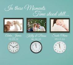 In these moments time stood still wall decal sticker by luxeloft, $26.00