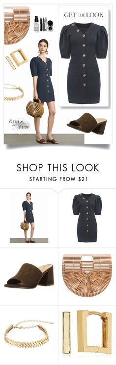 """""""Easy Button Dress"""" by freida-adams ❤ liked on Polyvore featuring Seychelles, Rebecca Minkoff, Laundry by Shelli Segal and Bobbi Brown Cosmetics"""