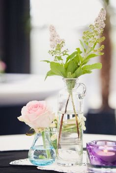 Diseños de centros de mesa para bodas vintage [Fotos]
