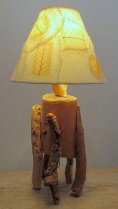 lampe de bois flotté - atelier bertrand