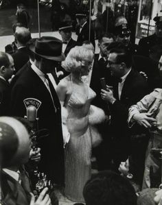 Marilyn Monroe and Arthur Miller photographed for the Some Like It Hot Premiere