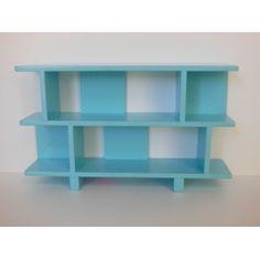 Modern Dollhouse Furniture | M112 PODS | Vendi 2 Tier Bookcase in Blue by Paris Renfroe Design