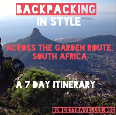 A monster post ( 5500 words) and guide to anyone interested in backpacking in style across the Garden Route in South Africa. Post has a complete breakdown of costs, itinerary plus 3 beautiful videos to give you a full overview of everything anyone would need to know to plan your dream Garden Route trip. Welcome your feedback so please leave your comments and thoughts .Enjoy and please feel free to share this with your networks. Thank you!